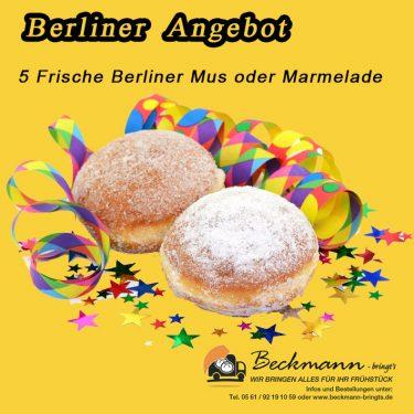 Berliner, Kräppel, Krapfen zu Silvester, Fasching, Beckmann-bringts.de