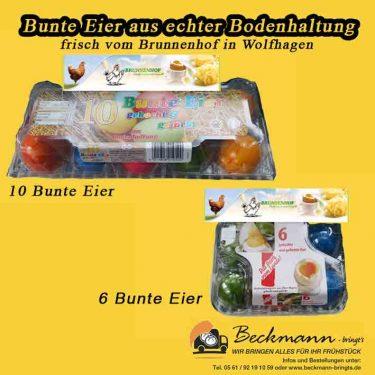 Gefärbt Eeir von Beckmann Bringts Frühstücksbringdienst