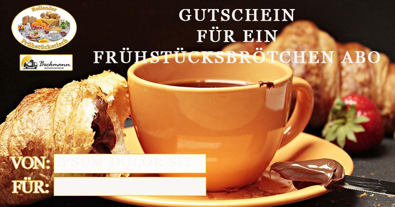 Brötchen, Gutschein, verschenken, Beckmann Bringts.de