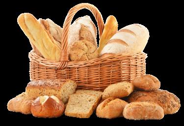 Korb mit Backwaren, Brot, Brötchen, Laugenbrötchen, Bretzel, Brötchenlieferdienst Beckmann-bringts